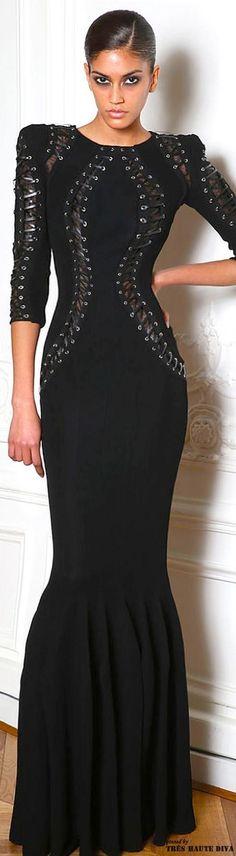 Paris Fashion Week Zuhair Murad Fall/Winter 2014 RTW♡✿PM black
