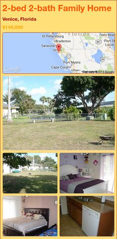 2-bed 2-bath Family Home in Venice, Florida ►$149,000 #PropertyForSale #RealEstate #Florida http://florida-magic.com/properties/88651-family-home-for-sale-in-venice-florida-with-2-bedroom-2-bathroom
