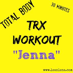 This total body TRX workout will sure leave you sore for a few days. Varying intervals and exercises targeting upper body, lower body and core. Trx Workout, Rope Training, Suspension Trainer, Total Body, Upper Body, Fitness Inspiration, Exercises, Exercise Routines, Excercise