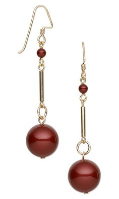 Earrings with Swarovski Crystal Pearls and Gold-Filled Beads - Fire Mountain Gems and Beads