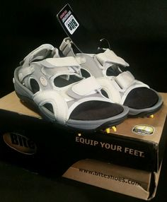SOLD!!  Bite Footwear Grey, White & Pink Golf Sandals US Size 5 New in Box!
