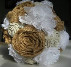 I don't really like this lace but the burlap flowers are adorable for madeline & halie?