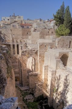 Pool of Bethesda . Jerusalem