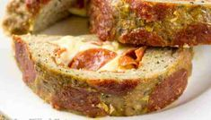 Pepperoni Pizza Stuffed Meatloaf - Low Carb THM S