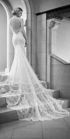 Lovely lace train