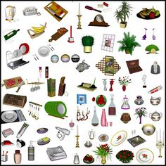 ClioSims3: Decor set (updated for The Sims3 Pets)