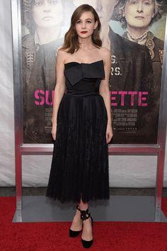 Carey Mulligan in Alexander McQueen - Best dressed celebrities this week: 12 October | Harper's Bazaar