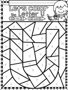 Alphabet Letter Of The Week Program - Alphabet Letter U Package Pre K Worksheets, School Worksheets, Alphabet Worksheets, Alphabet Activities, Alphabet Letters, Preschool Education, Preschool Learning Activities, Teaching Kindergarten, Preschool Crafts