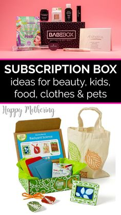 Monthly subscription boxes are amazing for discovering new beauty, food, clothing, craft, kid, household and other products. I love how there's something for everyone - moms, women, men, teens, tweens, kids, babies and even pets! Check out the best subscription box ideas in each category. #subscriptionboxes #monthlysubscriptionboxes #subscriptionboxideas #beauty #homemaking #kids #kidsclothes #clothessubscription #foodsubcription #beautysubscription #petsubscription #pets #petideas #pettoys Fun Games For Kids, Craft Activities For Kids, Art For Kids, Green Crafts For Kids, Kids Crafts, Homemade Beauty Products, Diy Cleaning Products, Natural Parenting, Parenting Tips