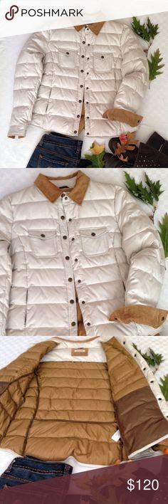 MASSIMO DUTTI PUFFER COAT NWT Beautiful stylish  warm coat jacket. Corduroy collar and cuff trim. 2 chest pockets, 2 lower zippered pockets. Premium down. Italian size 42 ( US size: M - 6 ) Massimo Dutti Jackets & Coats Puffers