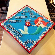 My beautiful Disney princess graduation cap!