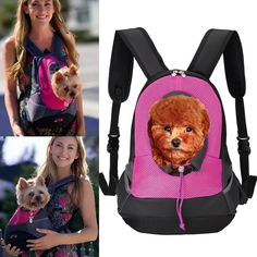 QUMY Pet Carrier Backpack Dog Travel Bag Back Front Pack Carrying Double Shoulder Bags for Small Dogs -- Check out this great product. (This is an affiliate link and I receive a commission for the sales)