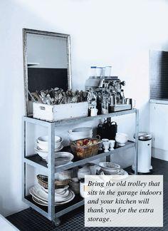 Let's talk vintage...kitchen storage......