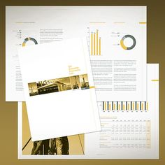 The use of yellow is well done here too... change the shading/tone of photos and documents