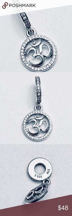 4c80066f7 Authentic Pandora Om Symbol Dangle Charm Comes With It's Pandora Tag and  Box. Pandora Jewelry