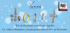 El Arte de Ammar ♥   20% de Descuento en Argollas y en anillos, diamantes y joyería general hasta el 30% de Descuento. La fecha más esperada del año en Varré llegó...El Buen Fin... #promociones #matrimonio #argollasdematrimonio #bodas #lunes #compromiso #anillodecompromiso #joyería #descuentos #noviembre #churumbelas #parejas #eventos #tbt #momentos #eshoradedisfrutar #elbuenfin
