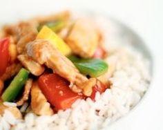 Sauté de porc aux légumes et au riz