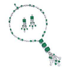 Important Emerald and Diamond Demi-Parure, Bulgari