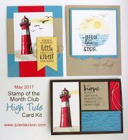 For the last card in my May Stamp of the Month Club series, I was inspired by a card I saw on Pinterest. I copied the main element of the card by AmethyStar Crafting. I love how easy it is to create a