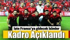 Fatih Terim Milli Takım'ın 2016 Avrupa Şampiyonası kadrosunu açıkladı