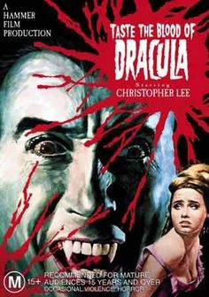 Taste The Blood of Dracula (1970) Hammer Film with Christopher Lee - Movie Poster https://www.youtube.com/user/PopcornCinemaShow