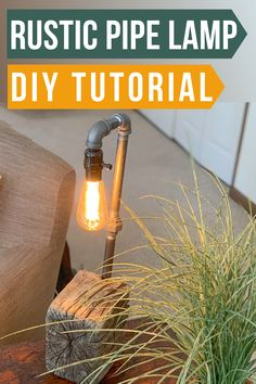 Make a unique rustic lamp with industrial black iron pipes and driftwood base. Cute and fast lamp DIY idea. Lamp DIY tutorial. How Do You Clean, Lamp Switch, Rustic Lamps, Iron Pipe, Do It Yourself Crafts, Pipe Lamp, Eclectic Decor, Diy Wall Decor, Crafts To Do