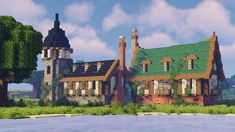 Minecraft Castle Blueprints, Minecraft Shops, Minecraft Cottage, Minecraft Medieval, Cute Minecraft Houses, Minecraft City, Minecraft Plans, Minecraft House Designs, Minecraft Survival