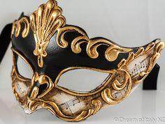 Venetian Masquerade Mask Colombina Madam Music