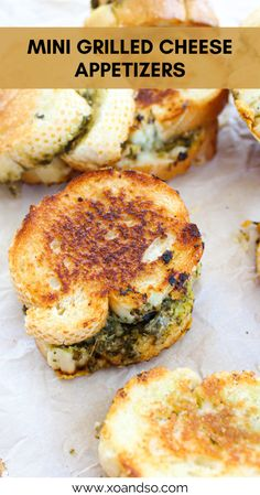 Grill Appetizers, Appetizer Sandwiches, Party Sandwiches, Party Appetizers, Appetizer Recipes, Grilled Cheese Recipes Easy, Mini Grilled Cheeses, Grill Cheese Sandwich Recipes, Sandwich Buffet