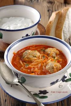 Healthy Soup Recipes, Cooking Recipes, Dumplings For Soup, Hungarian Recipes, Slow Cooker Soup, Food 52, Food Dishes, Yummy Food, Tasty