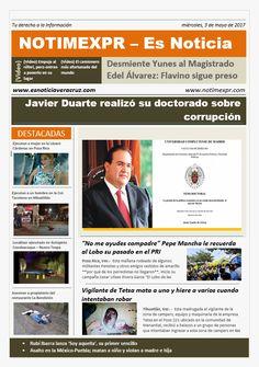 La Información más destacada con NOTIMEXPR – Es Noticia. miércoles, 3 de mayo de 2017 - http://www.esnoticiaveracruz.com/la-informacion-mas-destacada-con-notimexpr-es-noticia-miercoles-3-de-mayo-de-2017/