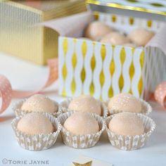 Hand-made White chocolate & Orange truffle recipe by Torie Jayne Chocolate Orange Truffles Recipe, Coconut Truffles, Cake Truffles, White Chocolate Chips, Cake Ball Recipes, Candy Recipes, Dessert Recipes, Lavender Recipes, Lemon Recipes