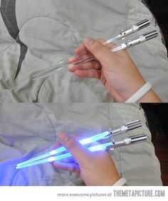 It is very important that I have these lightsaber chopsticks
