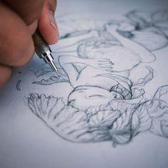 James Jean @jamesjeanart Drawing a small p...Instagram photo   Websta (Webstagram)