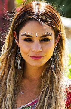 Vanessa Hudgens #festival #hair #hairstyle #coachella #boho