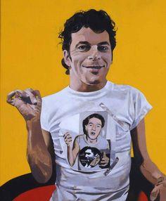 Peter Blake, Ian Dury, acrylic on board, x cm, courtesy the artist and Waddington Custot Galleries. Peter Blake, Beatles Albums, John Lennon Beatles, Lonely Heart, First Art, Art For Art Sake, Cultura Pop, Jimi Hendrix, Painting Prints