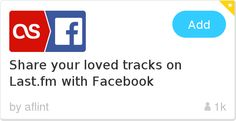 IFTTT Recipe: Share your loved tracks on Last.fm with Facebook connects last-fm to facebook