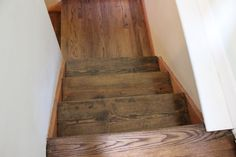 If you're popping over for the first time, go here and check out the stunning before and after pictures of having my hardwood floors refini. Hardwood Floor Stain Colors, Hardwood Floors, Flooring, Red Oak Floors, Before And After Pictures, Home Reno, Paint Colors, Stairs