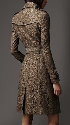 Long Lace Trench Coat | Burberry-the back