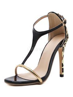 Damen Sandalen im schicken & modischen Style für Sommer mit Farbblock in Schwarz Sandalen für Damen