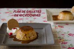 Flan de galletas en microondas | Cocinar en casa es facilisimo.com