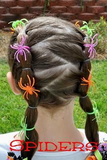 DIY Hallowen : DIY Halloween Hairdos: Spider Rings