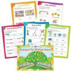 Oranges For Orange Juice Ebook & Worksheets – Creative Teaching Press Math Minutes, Learn To Read Books, Nouns And Pronouns, Mini Reading, Student Birthdays, Creative Teaching Press, Spelling Patterns, Compound Words, Emergent Readers