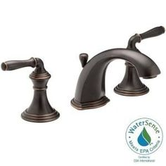KOHLER Devonshire 8 in. Widespread 2-Handle Bathroom Faucet with Lever Handles in Oil-Rubbed Bronze K-R394-4-2BZ at The Home Depot - Mobile