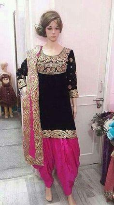Patiala Dress, Punjabi Salwar Suits, Punjabi Dress, Patiala Salwar, Pakistani Dresses, Indian Dresses, Anarkali, Saree Dress, Indian Clothes