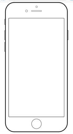 Iphone 4 coloring pages ~ Here is a free template of an iPhone or Smartphone ...