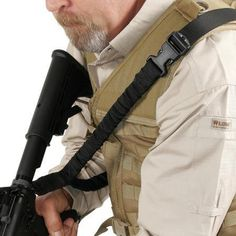 Blackhawk part number Blackhawk Storm Single Point Sling- Black. We are a full line BlackHawk dealer. Best single point sling available. Encased in compressed tubular nylon sheathing, fixed to limit bounce and enhance retention. Tactical Sling, Tactical Vest, Survival Gear, Survival Skills, Shooting Accessories, Tac Gear, Shooting Gear, Go Shopping, Sling Backpack