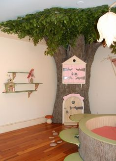 The ultimate classroom tree? This is a fantasy child's bedroom but what wonderful classroom ideas it could spark!