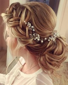 Wedding Hairstyles  :   Illustration   Description   Elstile Long Wedding Hairstyles and Updos | Deer Pearl Flowers    - #Hairstyle