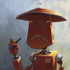 Digital Art by Goro Fujita. Character Concept, Concept Art, Character Design, Magical Creatures, Fantasy Creatures, Robot Art, Robots, Steampunk, List Of Artists